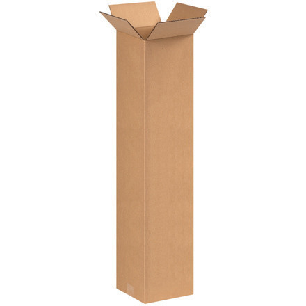 "8"" x 8"" x 36"" Tall Corrugated Boxes"