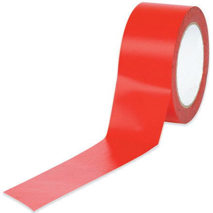 "2"" x 36 yds. Red Solid Vinyl Safety Tape"